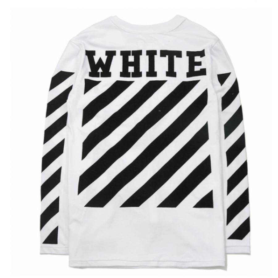 Свитшот OFF WHITE Fleece Logo Белая
