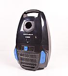 Пылесос для сухой уборки Grunhelm GVCM244BB (черно-синий) с мешком 2.4 кВт, фото 2