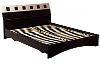 Кровать с прикроватными тумбами Мебель Сервис София с ламелями 160х200 см Венге светлый Венге т, КОД: