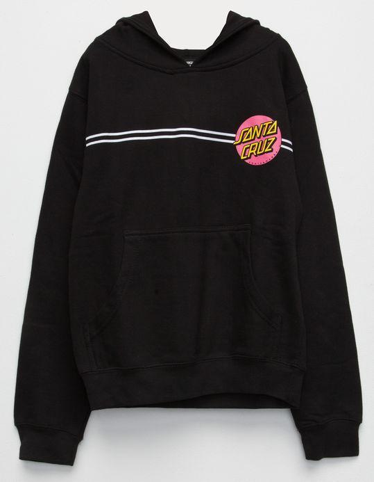 Худи Santa Cruz Pink Logo черное, унисекс (мужское, женское, детское)