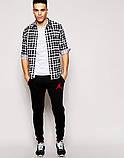 Мужские спортивные штаны Jordan | Джордан Спортивные чёрные красный значёк, фото 2