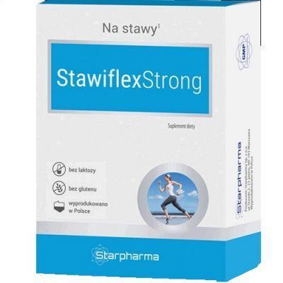 Препарат для суставов  хрящей STAWIFLEXSTRONG Сульфат глюкозамина,  хондроитин, марганец, гиалуроновая кислота