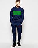 Мужские спортивные штаны Nike | Найк синие галочка красная, фото 2