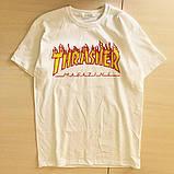 Футболка чоловіча Thrasher Flame. Всі розміри | Трешер Футболка, фото 2