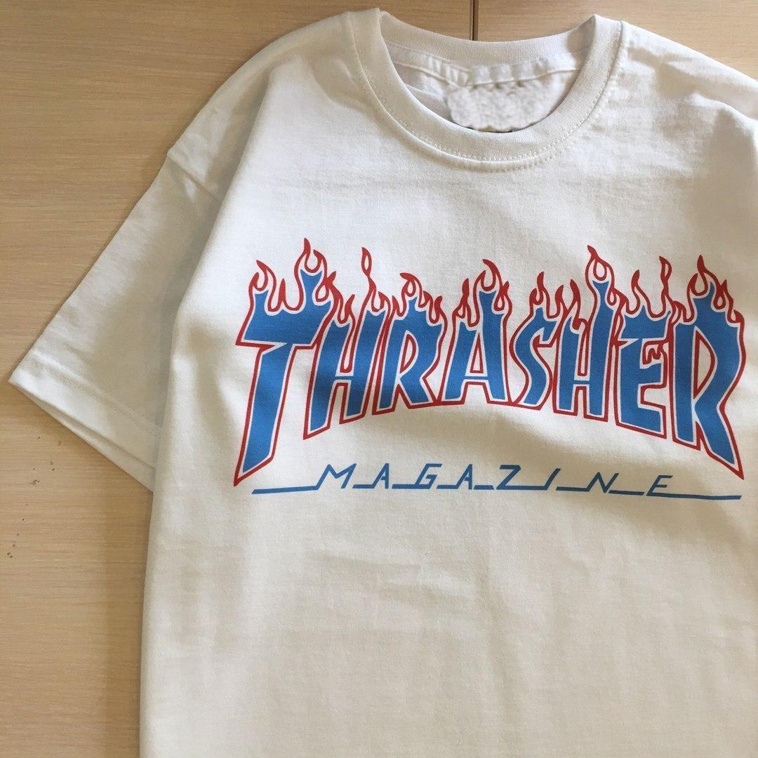 Футболка Thrasher женская Patriot. Все размеры. Реальные фото   Трешер Футболка