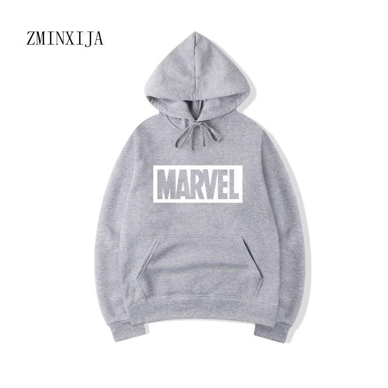 Худи Marvel серое с лого, унисекс (мужское, женское, детское)