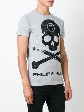 Мужская серая Футболка PHILIPP PLEIN футболка Truth Inside A Lie