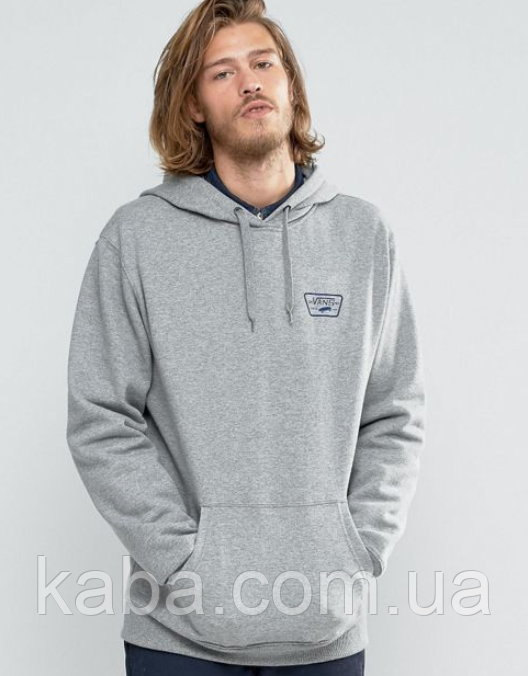 Худи Vans CA/NY серое с лого, унисекс (мужское, женское, детское)