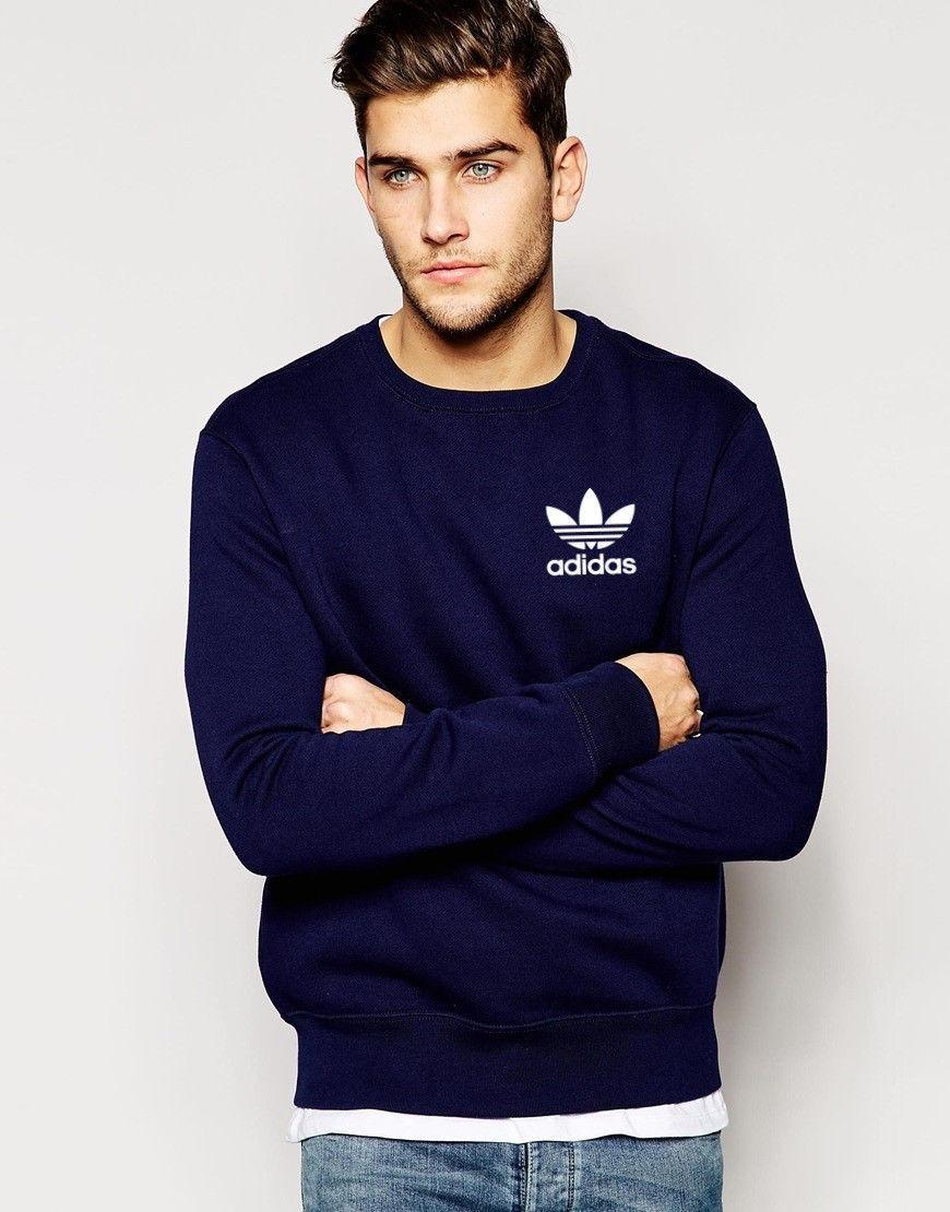 Свитшот синий Adidas ( Адидас ) OLD LIT