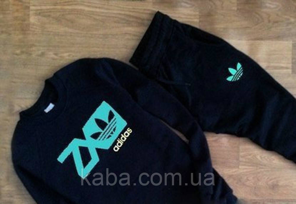 Мужской черный спортивный костюм Adidas ZX