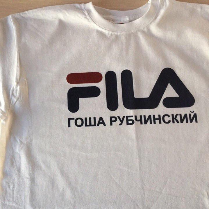 Футболка Гоша Рубчинскийв стилі FILA Біла