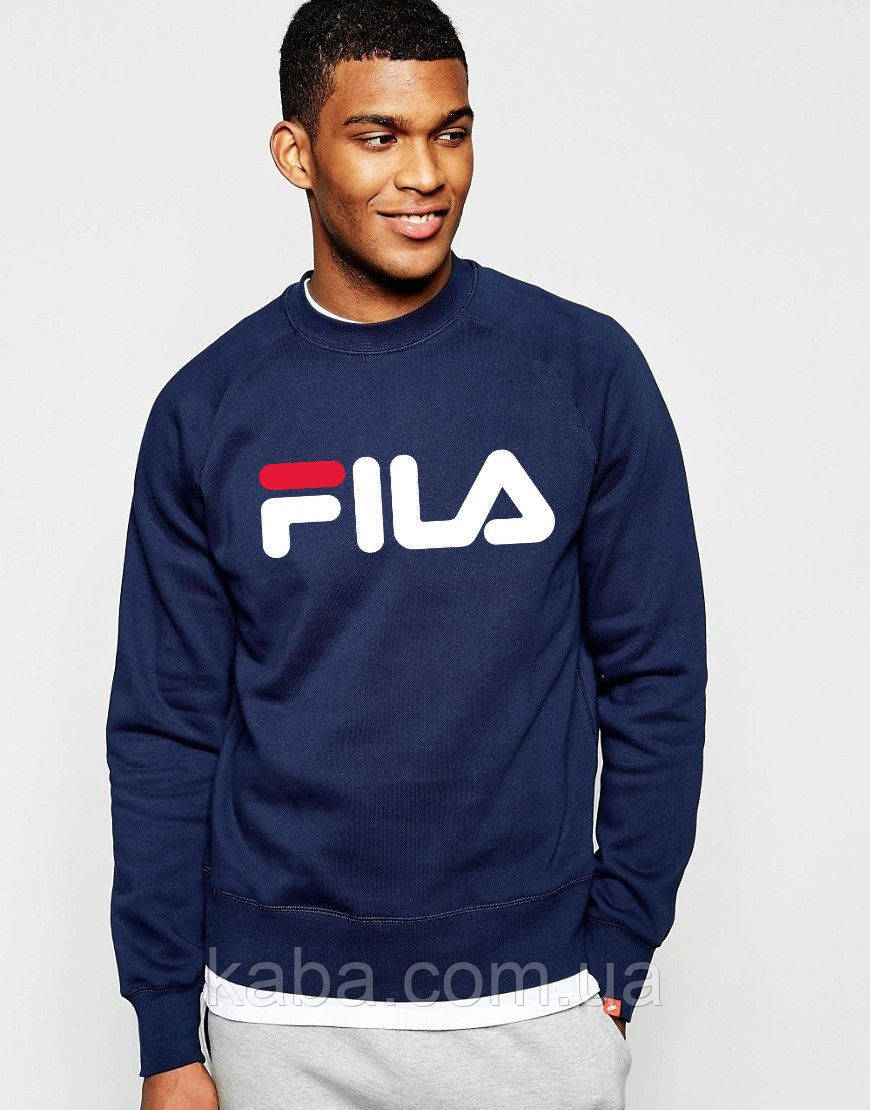 Свитшот синийв стиле FILA ( Фила ) (большое лого )