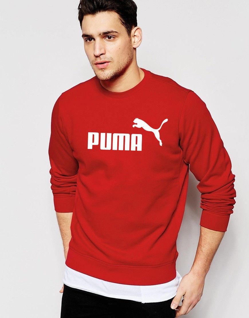 Свитшот красный PUMA ( Пума ) ( белое лого )