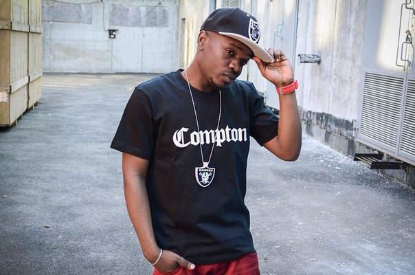 Чоловіча чорна Футболка Compton