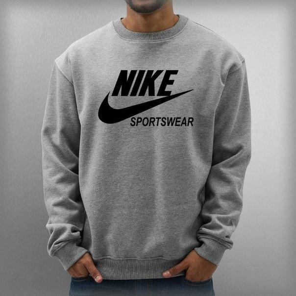Свитшот серый Nike ( Найк ) Sportwear