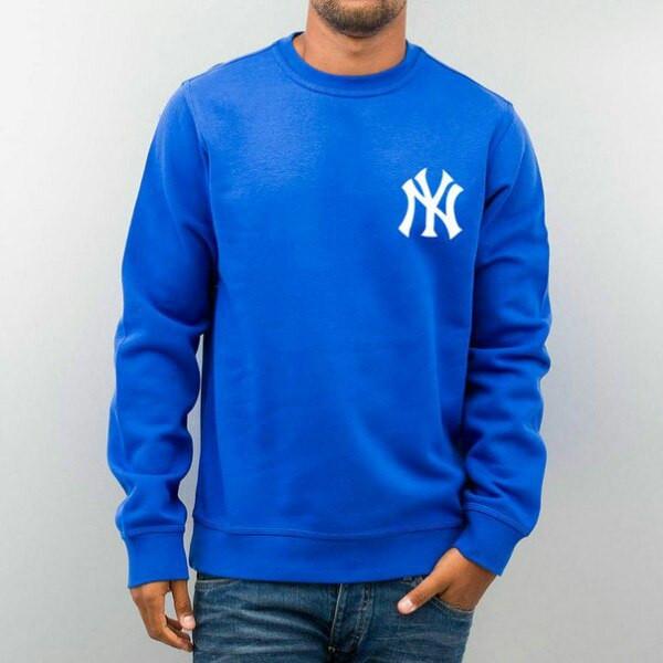 Свитшот синийв стиле NEW YORK Yankees
