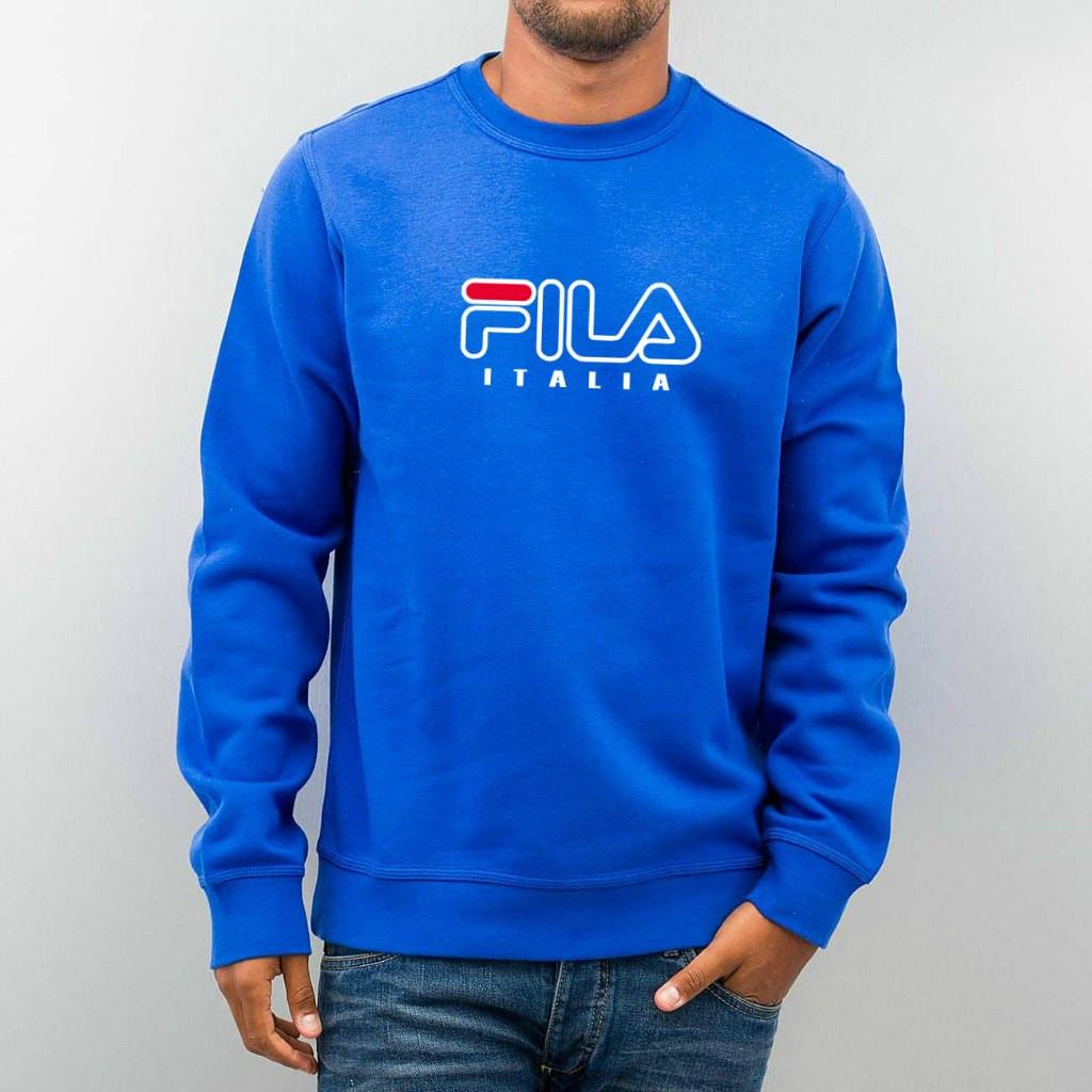 Свитшот ярко-синийв стиле FILA ( Фила )