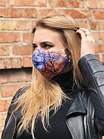 Принтованная многоразовая маска RicaMare с репродукцией картины Вид из садов Силис Клод Моне RM01, КОД: