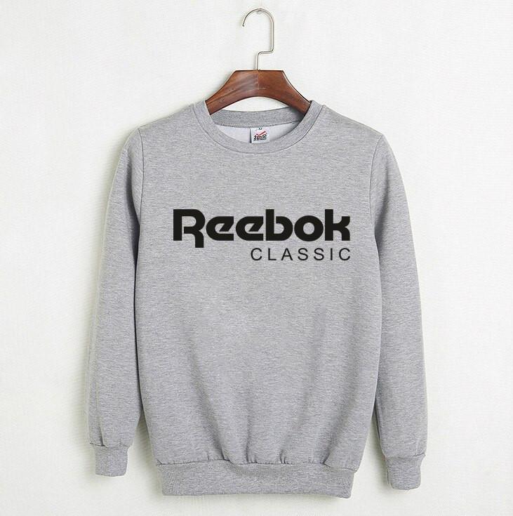 Свитшот серый REEBOK ( Рибок ) CLASSIC большое лого