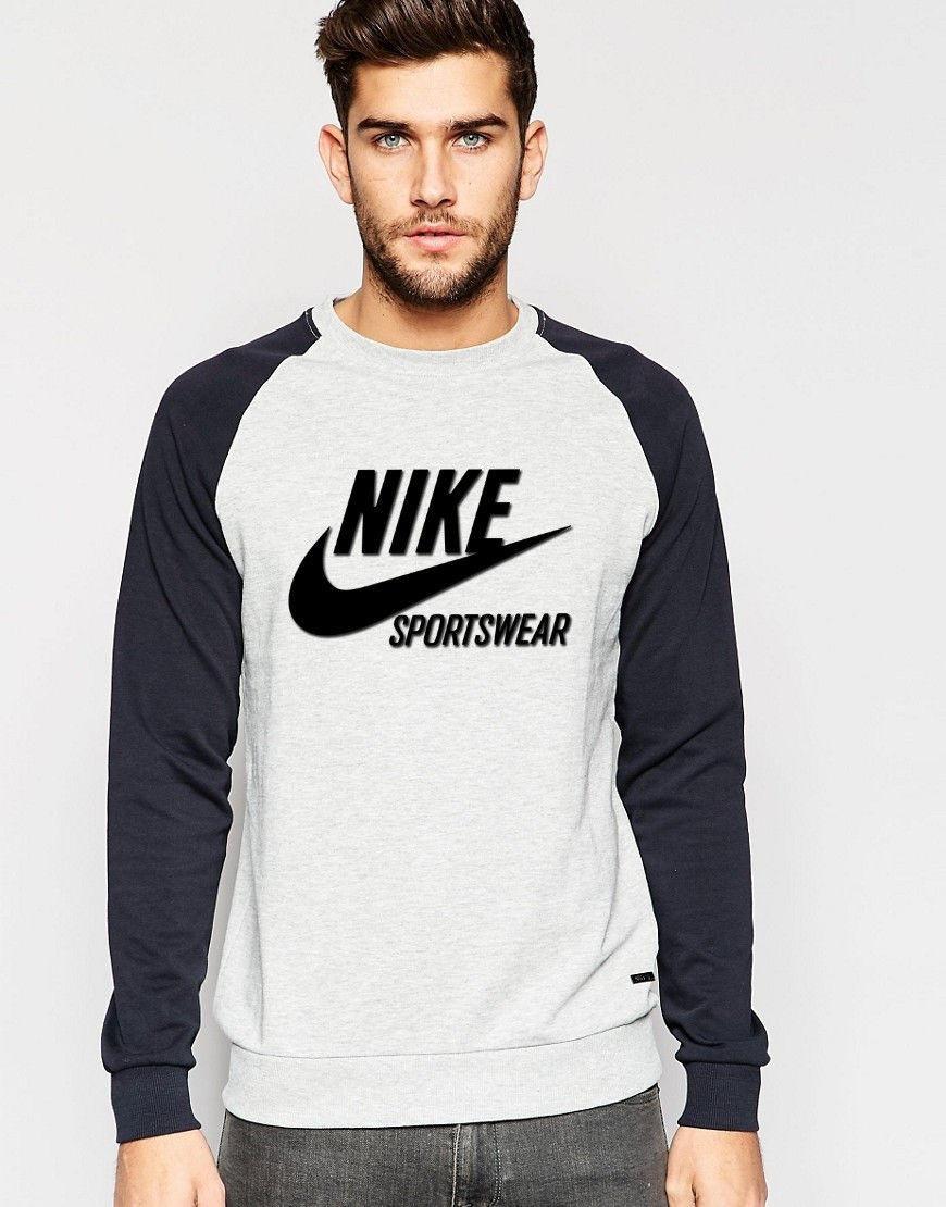 Комбо свитшот Серый Nike ( Найк ) Sportswear
