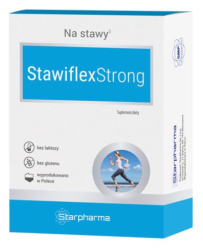 Глюкозамин хондроитин STAWIFLEXSTRONG МСМ для восстановления суставов и хрящей, марганец, гиалуроновая кислота
