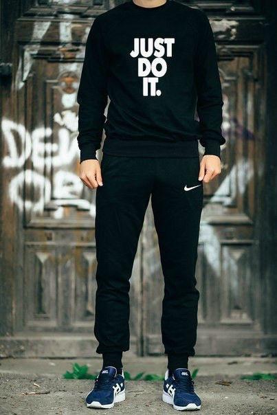 Мужской черный спортивный костюм Nike Just Do It