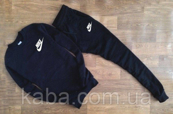 Мужской чёрный спортивный костюм Nike галочка+имя