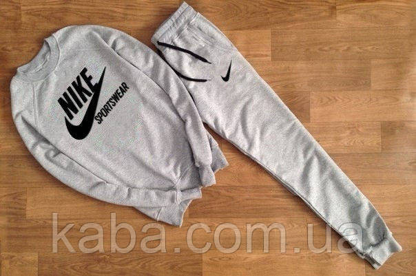 Мужской серый спортивный костюм Nike Sportswear