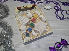 Гипсовые фигурки для детского творчества (фигурки раскраски) набор №1 подарок на новый год детям новогодний