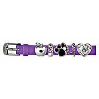 Браслет силиконовый Biojoux BJB002 Charms Bracelet MIX 2 Lilac 4666, КОД: 1796234