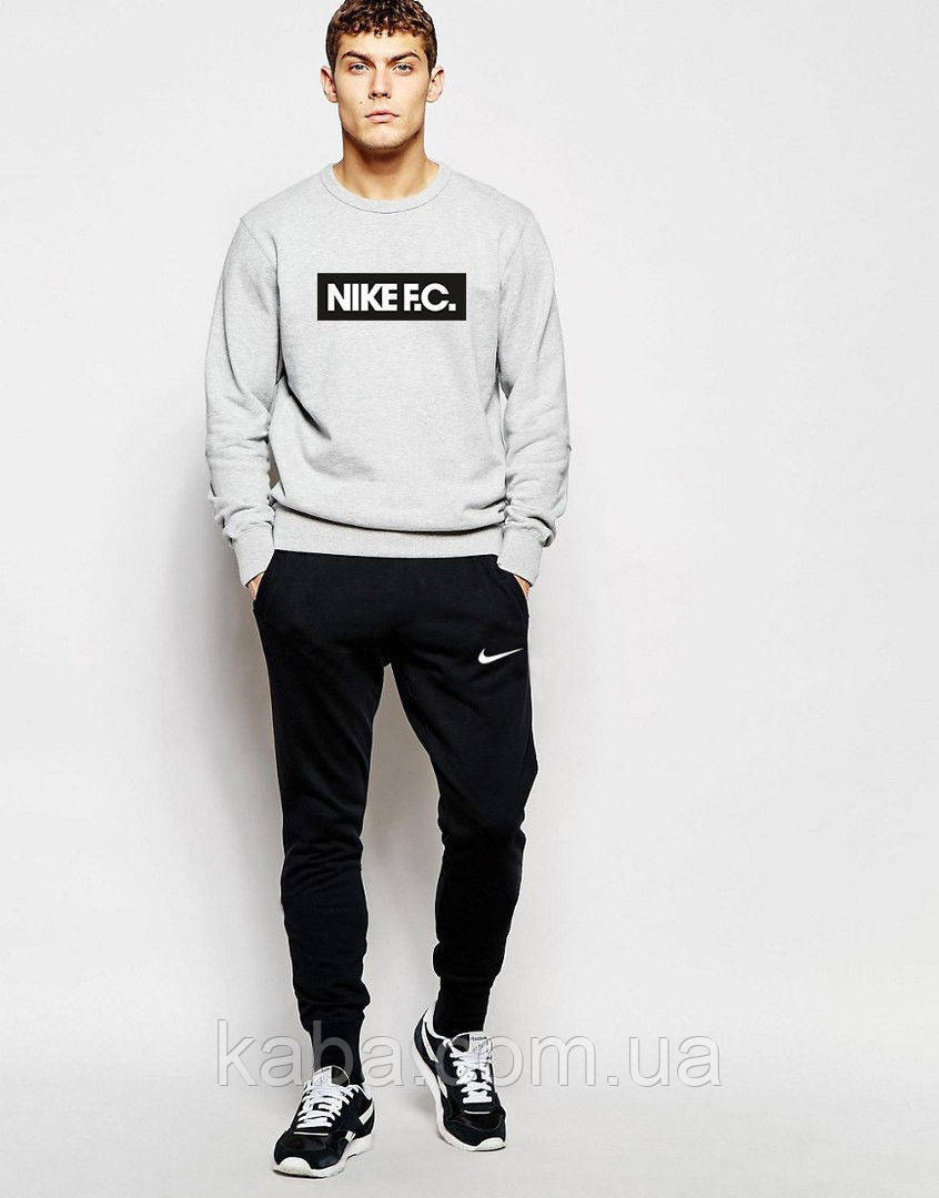 Мужской спортивный костюм Nike серый свитшот F.C.