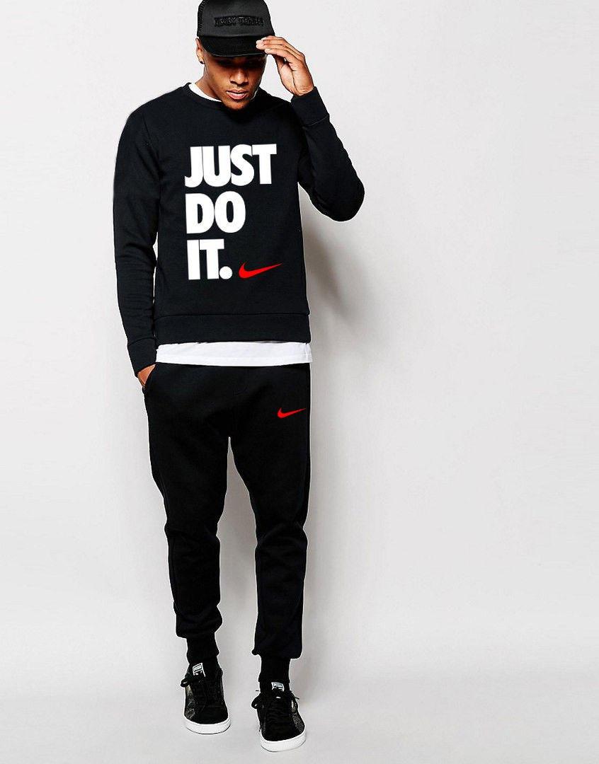 Чоловічий чорний спортивний костюм NikeJust Do It