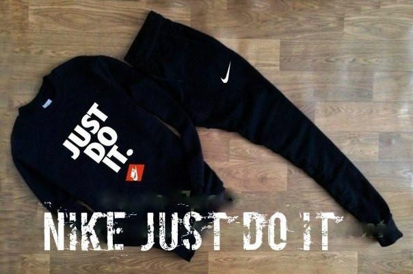 Мужской чёрный спортивный костюм NikeJust Do It