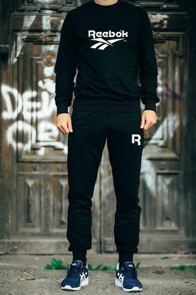 Мужской чёрный костюм REEBOK имя+лого