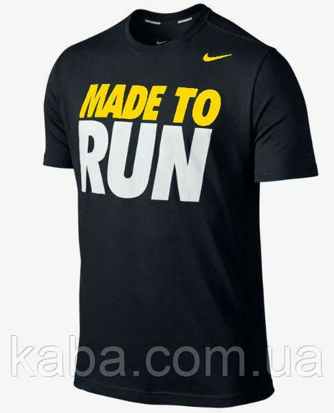 Футболка черная Nike | Найк (Made to run)