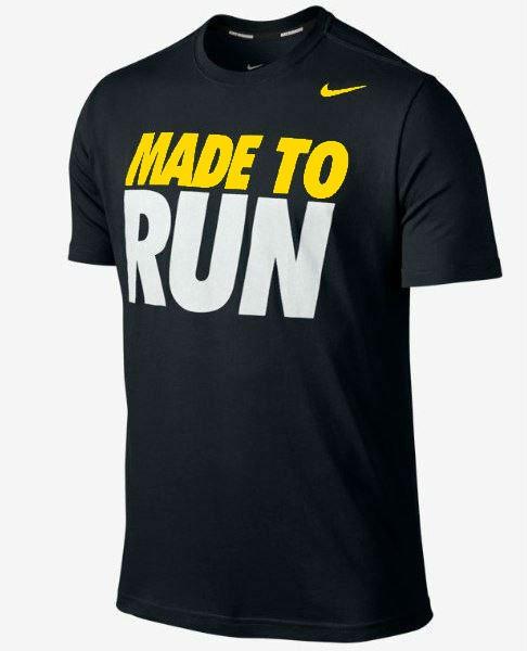 Футболка чорна Nike | Найк (Made to run)