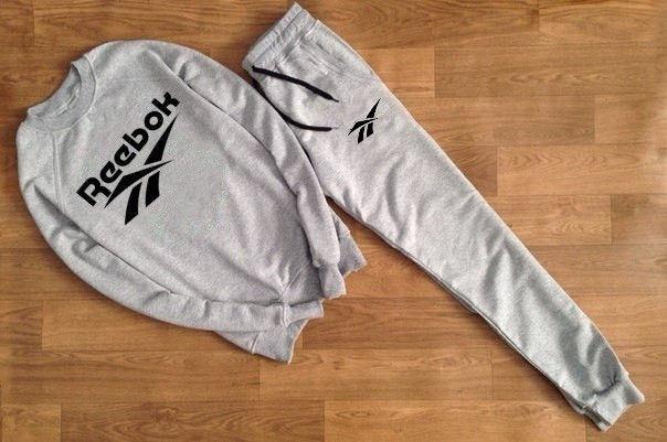 Мужской серый спортивный костюм REEBOK