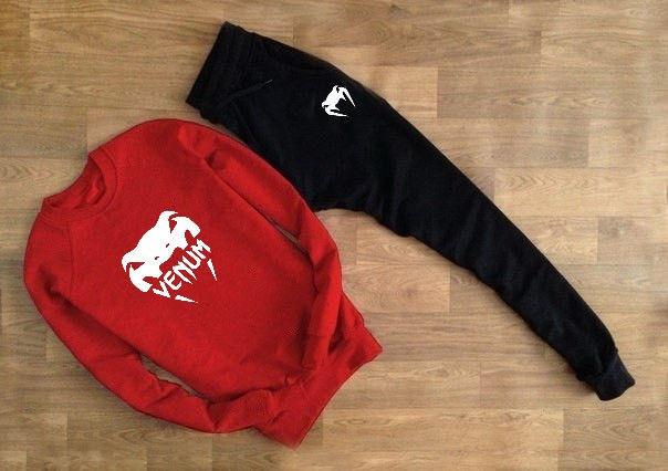 Мужской костюм VENUM красный свитшот