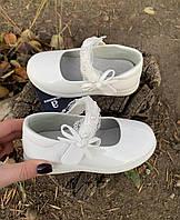 Белые туфли р26-31 для девочки Apawwa ( маломерят )