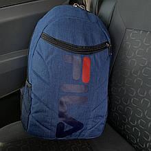 Рюкзак в стилев стиле FILA городской,спортивный,мужской,женский,для ноутбука синий меланж