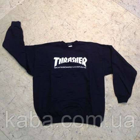 Світшот чорний TRASHER skateboard magazine