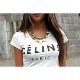 Женская Футболка Celine Paris Селин Париж ( Белая), фото 3