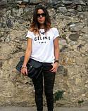 Женская Футболка Celine Paris Селин Париж ( Белая), фото 4