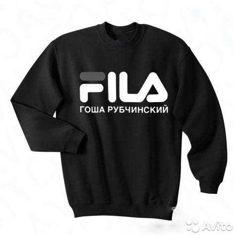 Свитшот Гоша Рубчинскийв стиле FILA Black