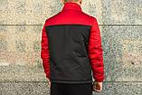 Анорак утепленный, куртка утепленная, ветровка утепленная красно-черная, фото 2
