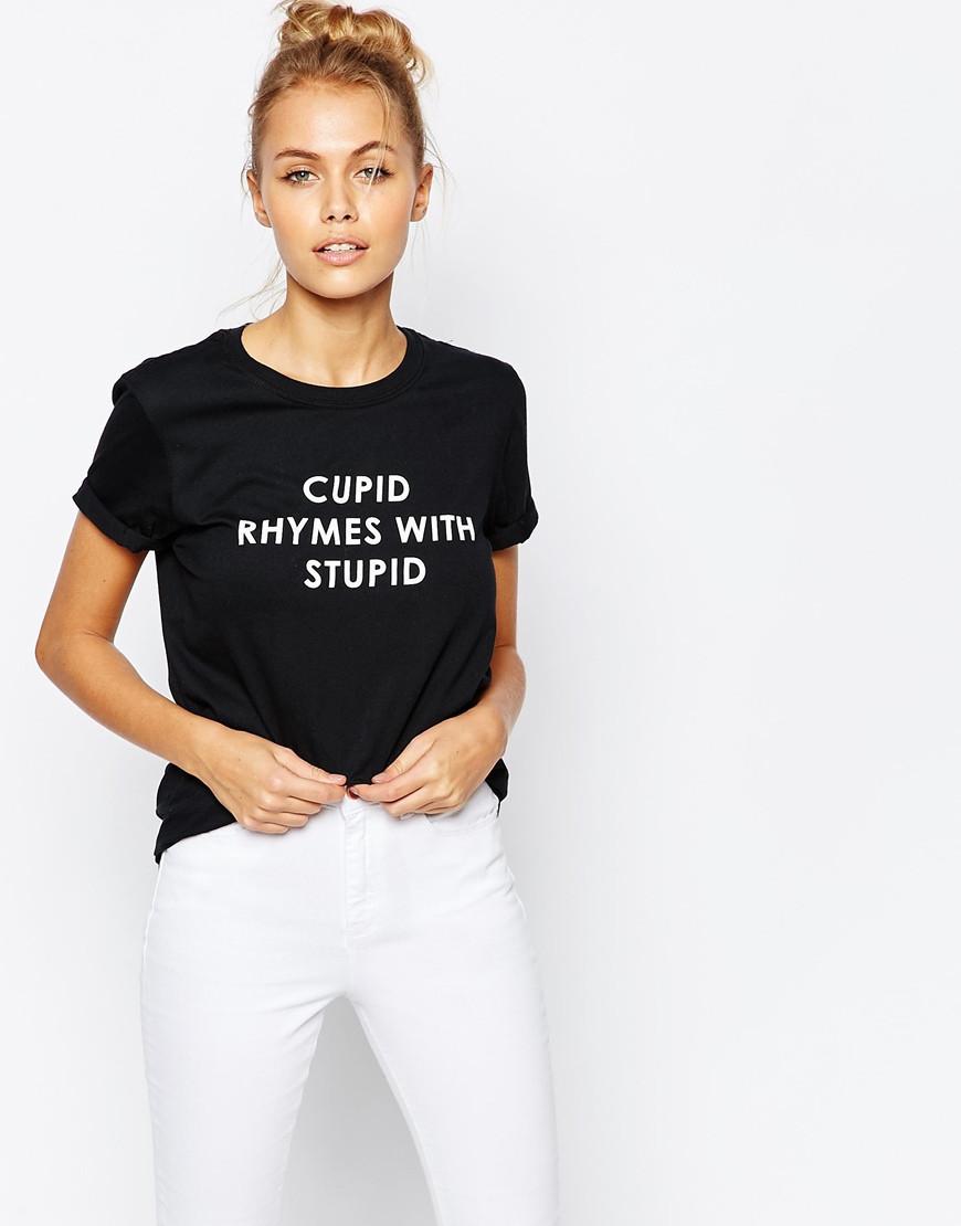 Футболка Жіноча Adolescent Clothing BOYfriend Stupid Cupid ( Чорна)