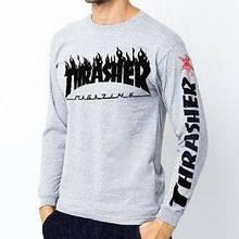 Свитшот в стилі Thrasher Magazine світшот • Чорна чоловіча кофта Трешер •