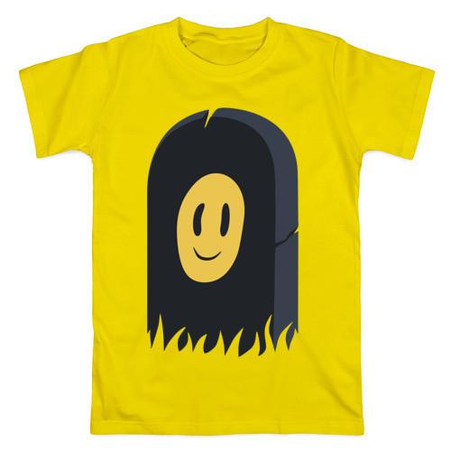 Футболка Пошлая Молли желтая с логотипом, унисекс (мужская,женская,детская)