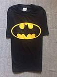 Футболка Batman черная с логотипом, унисекс (мужская, женская, детская), фото 2