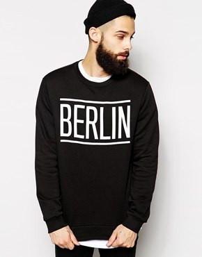 Світшот чорний чоловічий BERLIN | Кофта